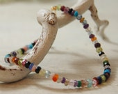 Fabulous, dainty multi gemmy gem bracelet Gold Filled