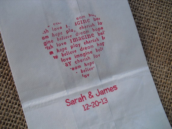 Wedding White Paper Favor Bags Cookie Bags Candy Buffet Bags