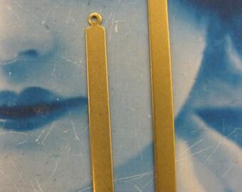 Natural Raw Brass Match Stick Shape Tags 2256RAW x2