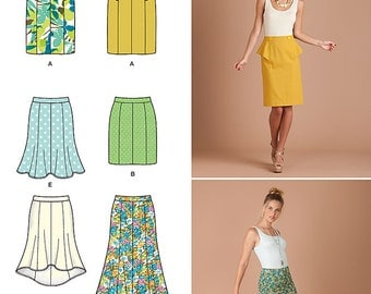 simplicity 1697 skirt pattern fitted skirt flared
