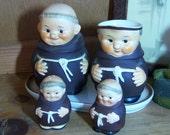 Vintage Goebel Friar Tuck  Serving Sets Salt Pepper Creamer Sugar