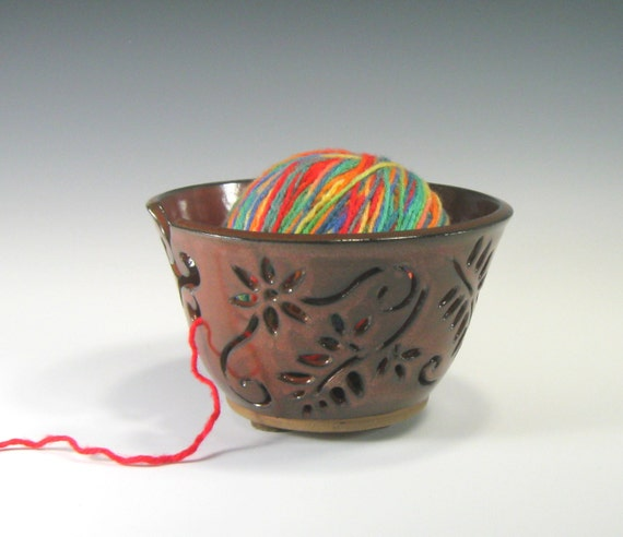 Crochet Yarn Bowl : Yarn Bowl - Knitting Bowl - Crochet Bowl - Knitting Supplies ...