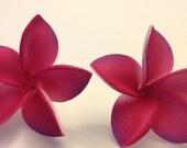 Plumeria, Pink, Pink flower, Tiki,Tropical flower,Hair flower, Flower clip, Ready to ship,luau, wedding,tropical hair flower