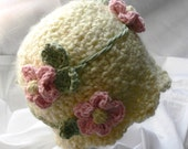 PDF PATTERN Classic Flower Hat Newborn to Youth sizes