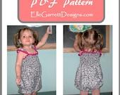 PDF Pattern - Girls Romper 6 month - 3T