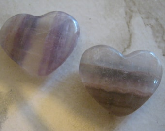 Carved Amethyst Heart Cabochons