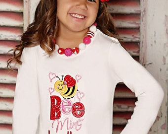 Bee Mine Applique TShirt by Elegant Embroidery Designs