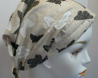 Butterflies Cancer Head Wrap Hairloss Scarf Turban Hat Alopecia English Traditions