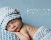 Infant Boy Newsboy Hat, Infant Boy Beanie, Crochet Infant Hat, Infant Boy Hat, Infant Baseball Hat, Newborn Boy Hat, Baby Boy Hat, Blue