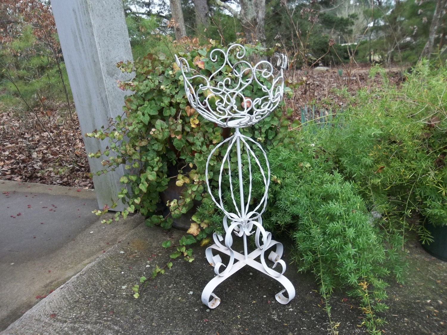 Vintage Fern Stand Wrought Iron Plant Stand Garden Decor