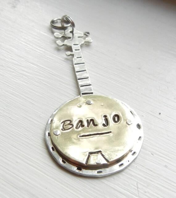 Custom BANJO Dog Tag ID-Unique Banjo Pet Tag-Handmade Brass