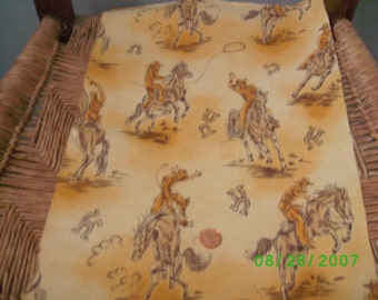 Children,s Novelty Quilt Fabric  Western Theme  on Yellow