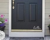 fancy hello heart Front Door - Decals for Your Front Door - Entryway Decor - Front Porch Decor - Vinyl Wall Art Graphic Stickers Decals 1511