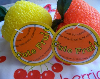 cute fruit cleaning pads