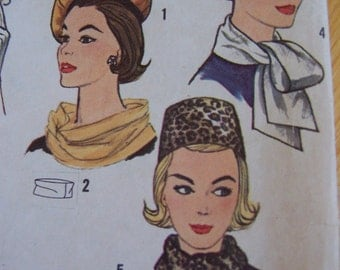 vintage hats and scarves simplicity pattern