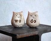 Wedding cake topper...Love bird owls... we do