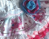 """Sample Sale  Easter Sunday Vintage Lace Ruffled """"Peppie the Pink French  Poodle"""" toddler  skirt One of a kind Size 5 only"""