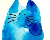 Watercats (No 72) - Original Miniature Watercolor Painting by bdbworld on Etsy - ACEO