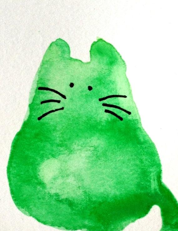Watercats (No 71) - Original Miniature Watercolor Painting by bdbworld on Etsy - ACEO