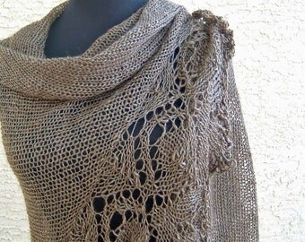 Luxury Silk and Alpaca lace shawl