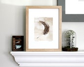 feather small art print