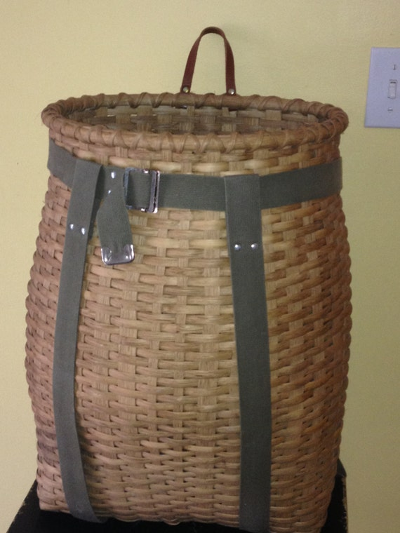 Next Woven Basket : Hand woven adirondack pack basket by hookandweavedesigns