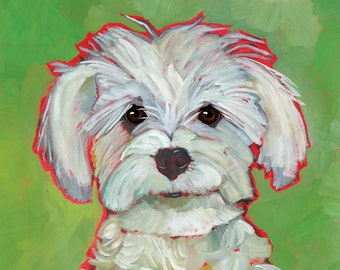 Pooped In The Hall  - magnets, coasters, prints maltipoo, maltese,