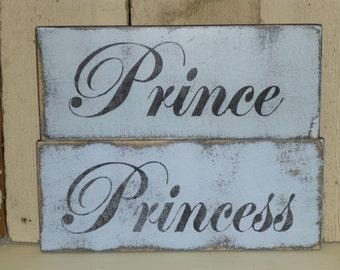 PRINCE or PRINCESS SIGN / shabby chic Princess sign / baby boy Prince sign / baby girl Princess sign / Little Prince sign / Prince Princess
