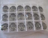 Lot of 4 12x10mm Black Diamond and Comet Argent Light Oval Swarovski rhinestones in Sew On settings