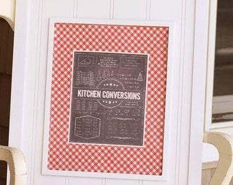 "Kitchen Conversions Iron On Label - 7""x9"""