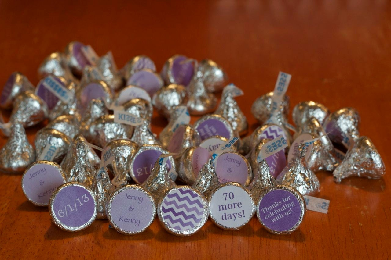 88 Hershey Kiss Labels Bridal Shower Favor By Lissalaneous