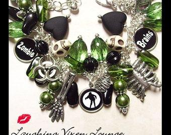 Zombie Bracelet - Horror Jewelry - Zombie Jewelry - Zombie Charm Bracelet Classic Edition - Horror Bracelet
