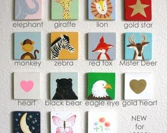 Personalized Wooden Name Banner with 6 Letters, baby and kids art, alphabet, nursery decorations custom name plaque