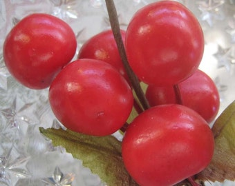 Cherry Cluster Millinery Fruit