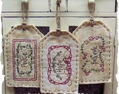 Believe, Hope, Peace Tag Collection-Primitive Stitchery  E-PATTERN by Primitive Stitches-Instant Download