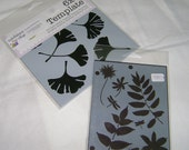Mini Ginkgo and Mini Botanicals Stencils by The Crafters Workshop