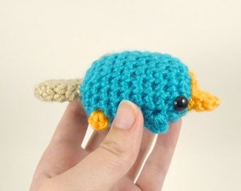 Mini Perry the Platypus - Made to Order - Amigurumi Crochet Fan Plushie
