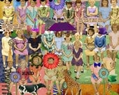 PNG Files, Digital Kit No.12 It's A Girl's World -For Digital Altered Art - Over 200 Elements PNG  files-Instant Download