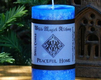 PEACEFUL HOME Spell Candle 2x3 Pillar