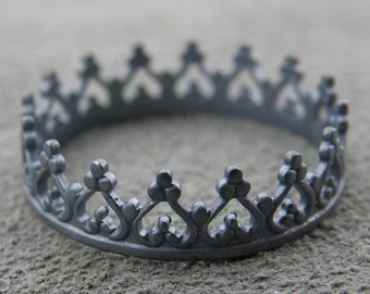 Silver Ring - You Are My Princess or Prince (Black)