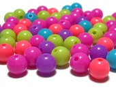 8mm Smooth Round Acrylic Bead Sour Candy mix 100pcs