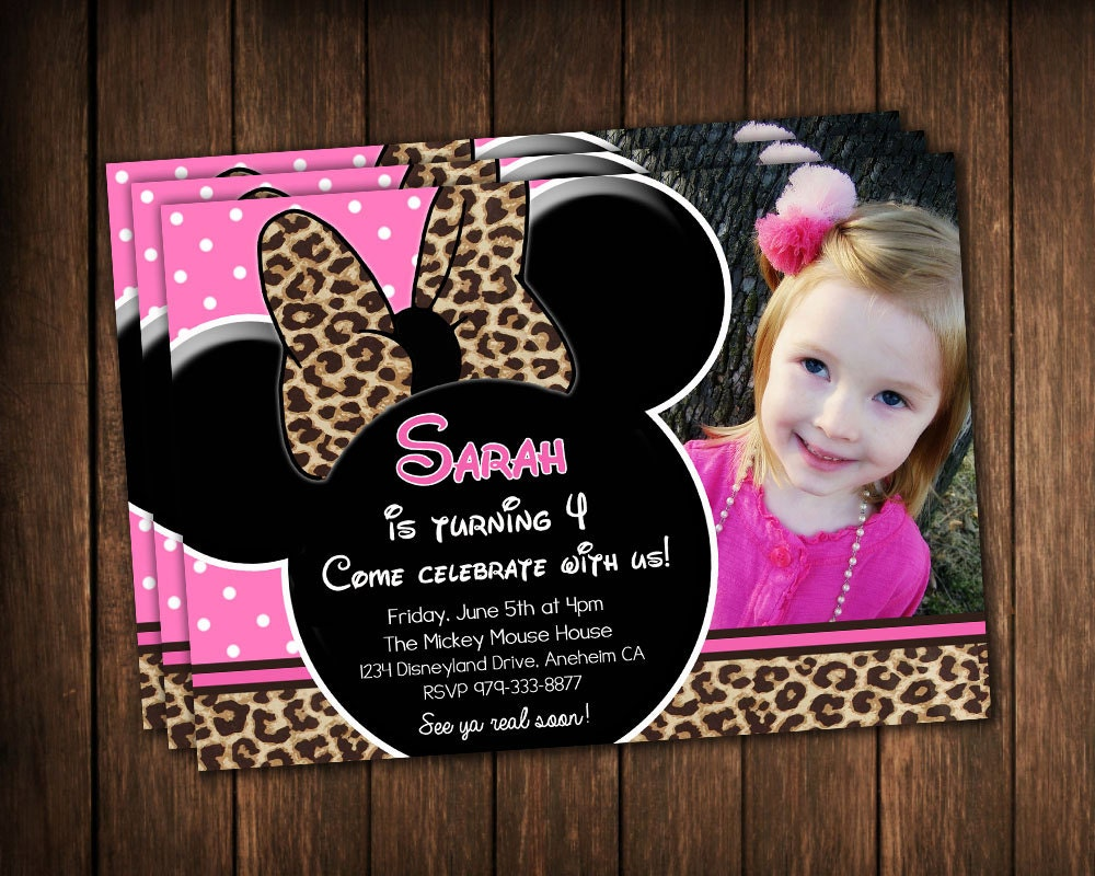 Pink And Leopard Baby Shower Invitations as best invitations ideas
