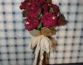 Paper Roses Bobbin Vase