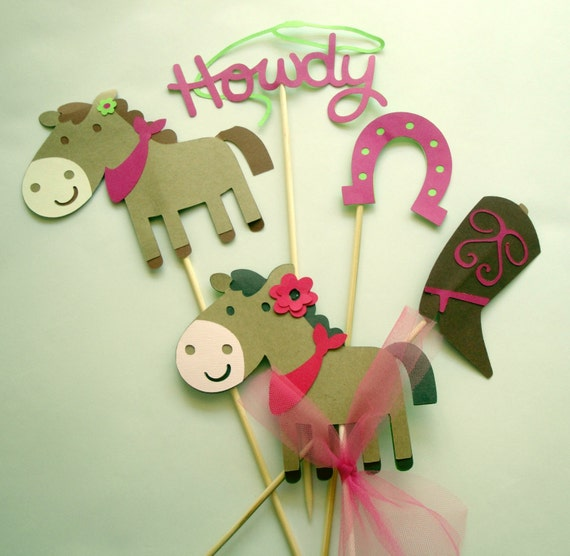 Western Decor For Birthday: Horse Western Girls Party Decorations Cowgirl 5 Piece Party