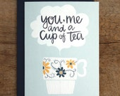 Cup of Tea Illustrated Card