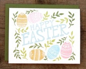 Happy Easter Illustrated Card