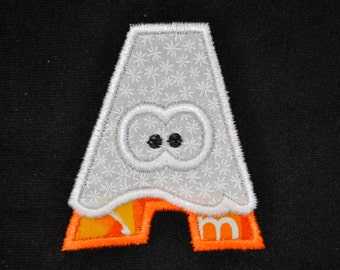 Halloween Tshirt with initial shaped ghost