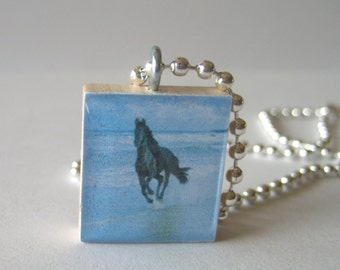 Horse Themed Scrabble Tile Necklace
