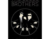 Movie poster The Blues Brothers 12x18 inches retro print