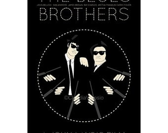 Movie poster The Blues Brothers retro print in various sizes